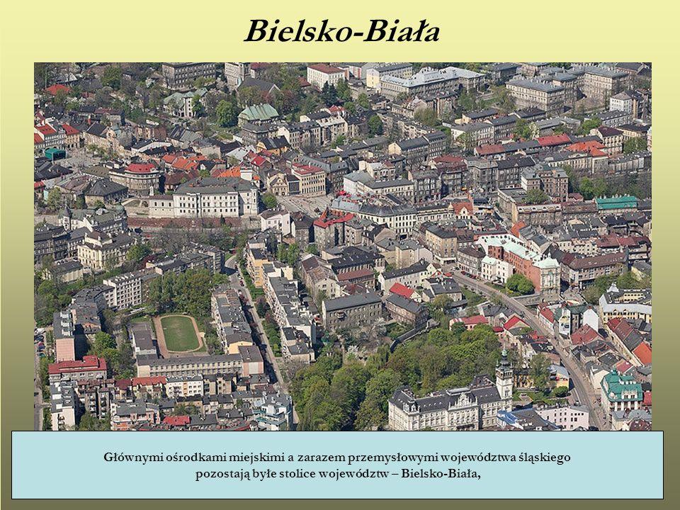 Bielsko-Biała Głównymi ośrodkami miejskimi a zarazem przemysłowymi województwa śląskiego pozostają byłe stolice województw – Bielsko-Biała,
