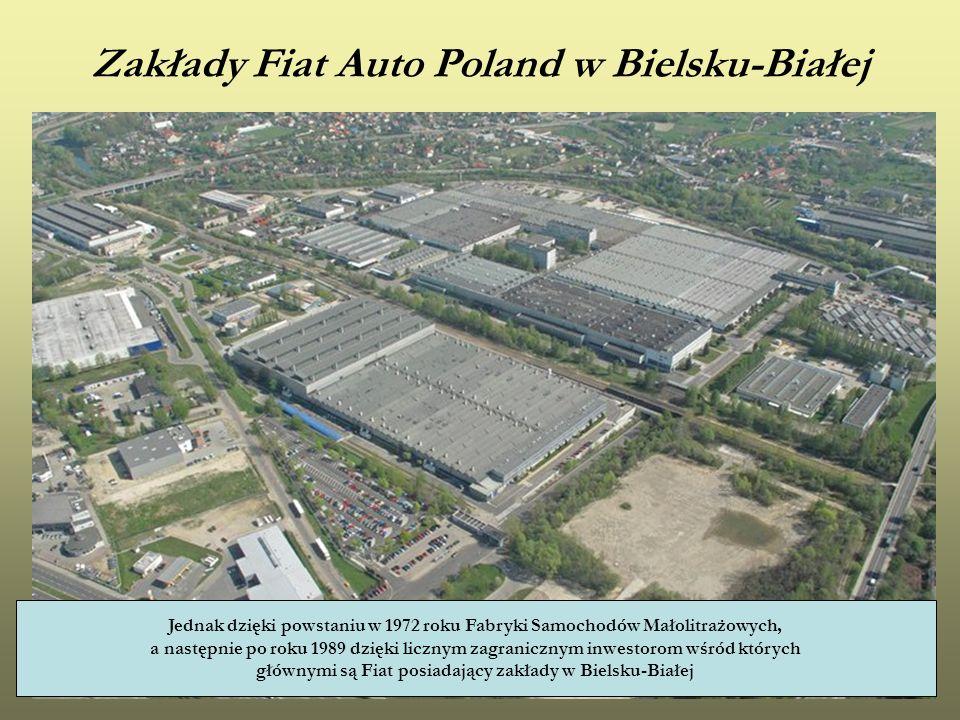 Zakłady Fiat Auto Poland w Bielsku-Białej Jednak dzięki powstaniu w 1972 roku Fabryki Samochodów Małolitrażowych, a następnie po roku 1989 dzięki licz