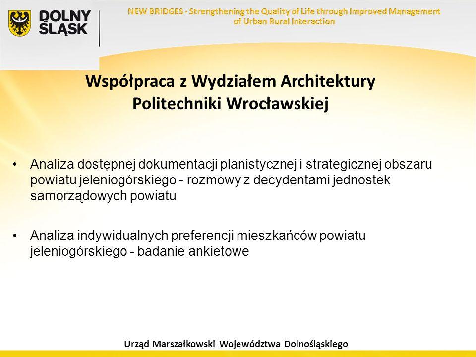 Urząd Marszałkowski Województwa Dolnośląskiego Współpraca z Wydziałem Architektury Politechniki Wrocławskiej Analiza dostępnej dokumentacji planistycz