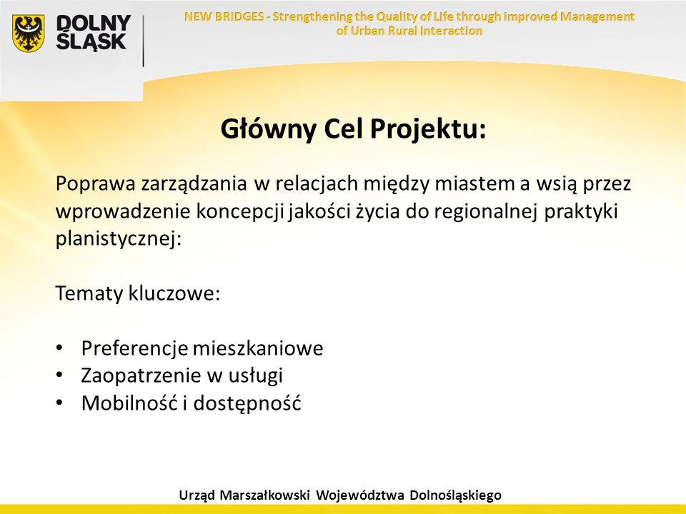 Urząd Marszałkowski Województwa Dolnośląskiego Główny Cel Projektu: Poprawa zarządzania w relacjach między miastem a wsią przez wprowadzenie koncepcji