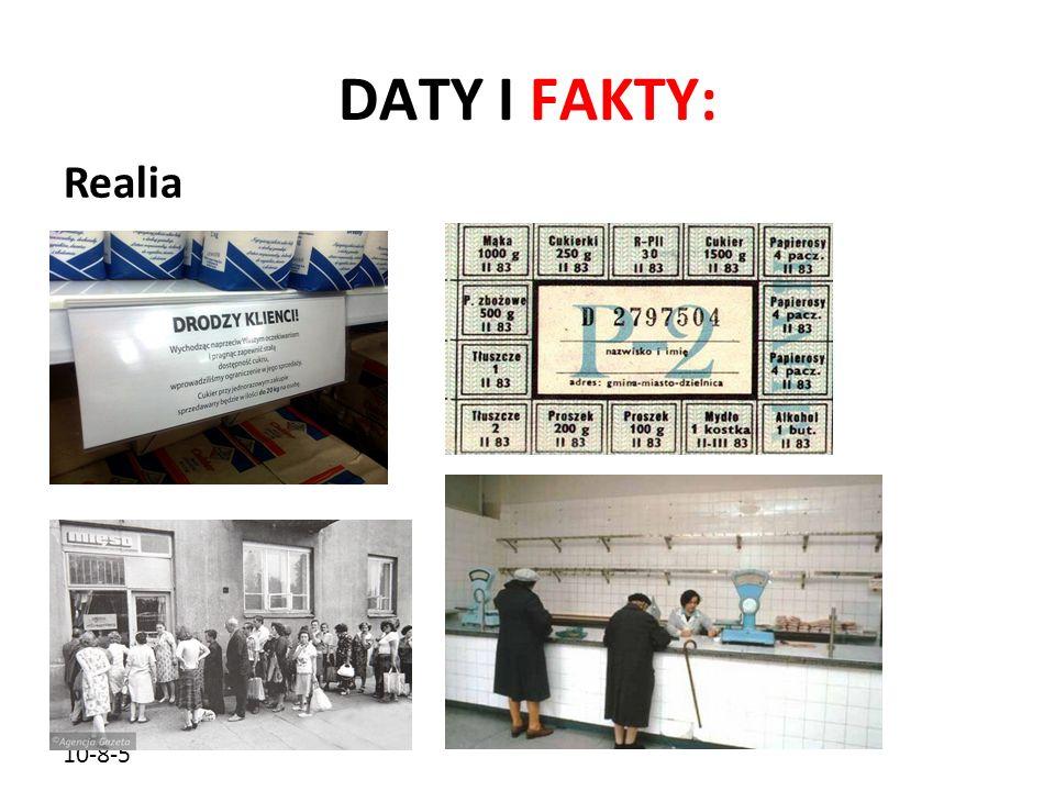 10-8-5 DATY I FAKTY: Realia