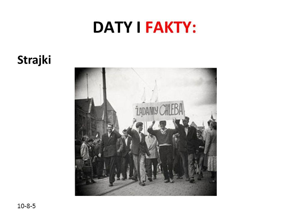 10-8-5 DATY I FAKTY: Strajki