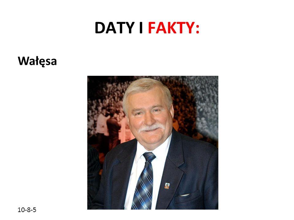 10-8-5 DATY I FAKTY: Wałęsa