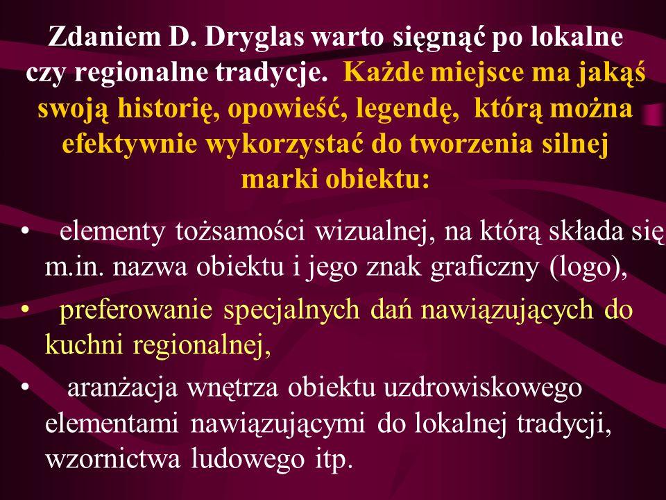 Zdaniem D. Dryglas warto sięgnąć po lokalne czy regionalne tradycje. Każde miejsce ma jakąś swoją historię, opowieść, legendę, którą można efektywnie
