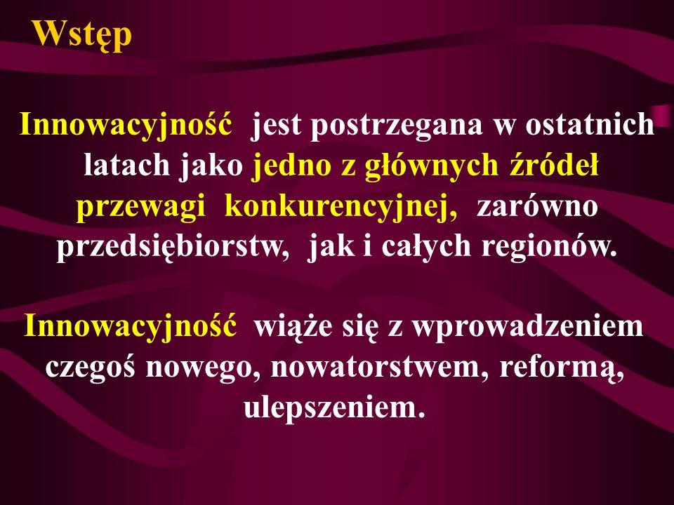 Innowacyjność w woj.podkarpackim. w hotelarstwie i gastronomii .
