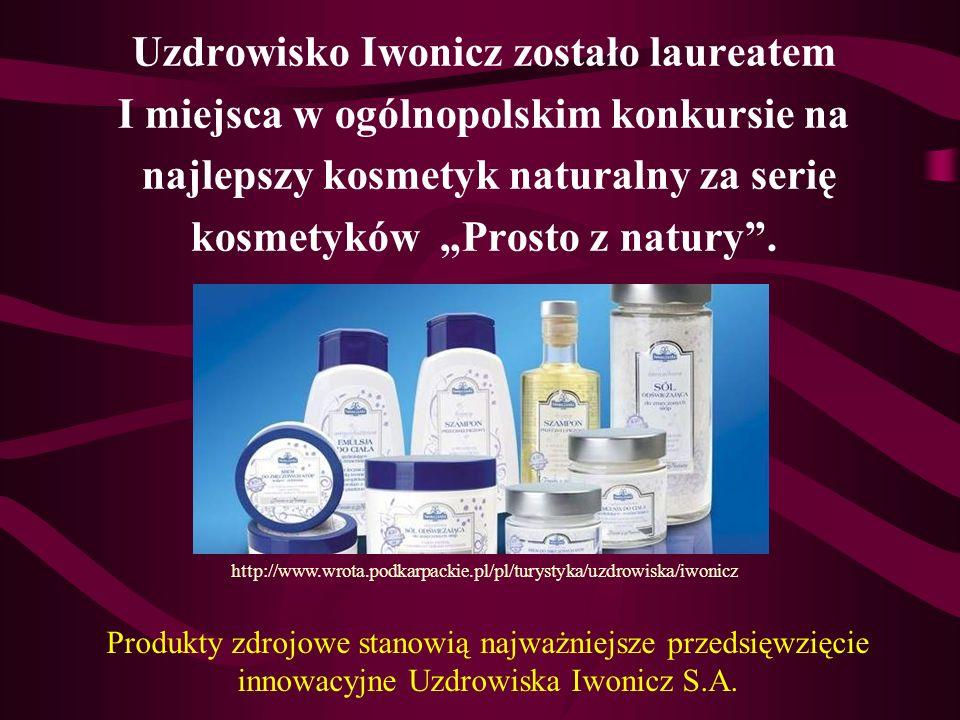 Uzdrowisko Iwonicz zostało laureatem I miejsca w ogólnopolskim konkursie na najlepszy kosmetyk naturalny za serię kosmetyków Prosto z natury. http://w