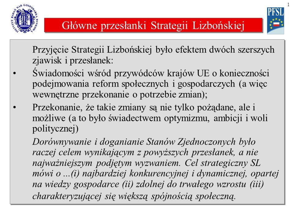 Główne przyczyny Strategii Lizbońskiej Główne przyczyny.