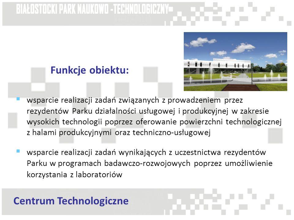 wsparcie realizacji zadań związanych z prowadzeniem przez rezydentów Parku działalności usługowej i produkcyjnej w zakresie wysokich technologii poprz