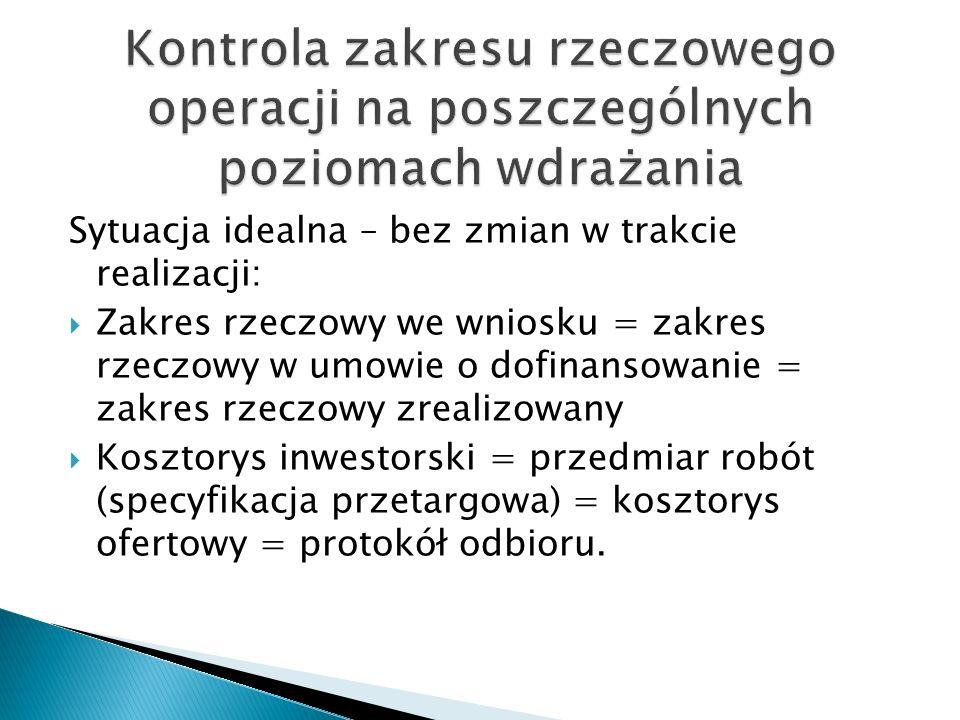 Na etapie przygotowania przetargu – wykrycie błędów w kosztorysie, Na etapie przygotowania przetargu - pytania oferentów, błędy w kosztorysie, W trakcie realizacji – sytuacje których nie można było przewidzieć (roboty zamienne i dodatkowe – protokół konieczności).