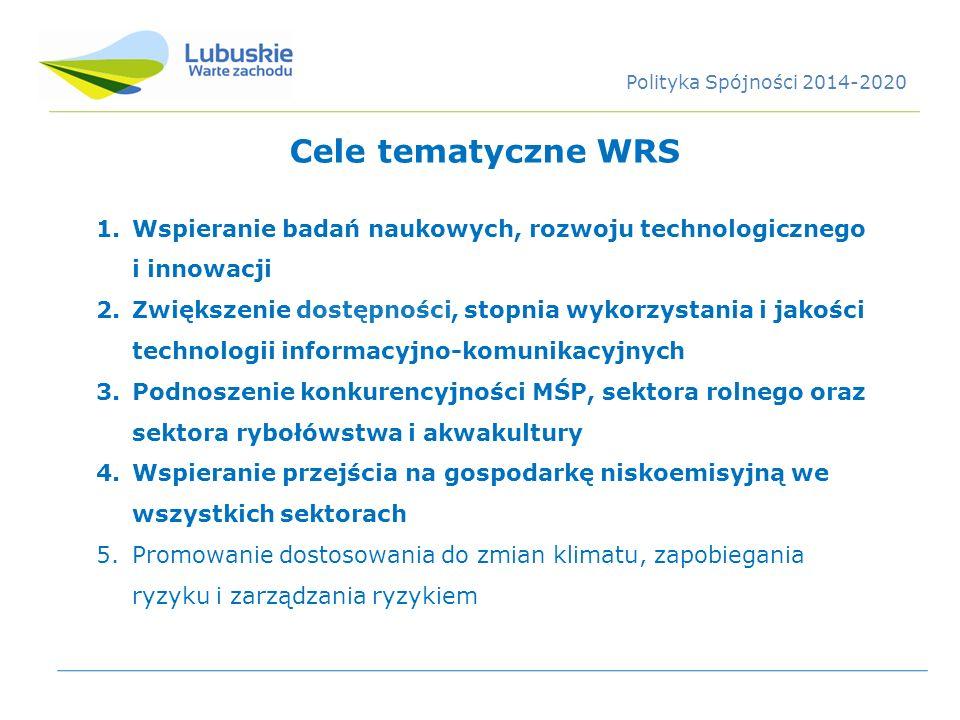 1.Wspieranie badań naukowych, rozwoju technologicznego i innowacji 2.Zwiększenie dostępności, stopnia wykorzystania i jakości technologii informacyjno