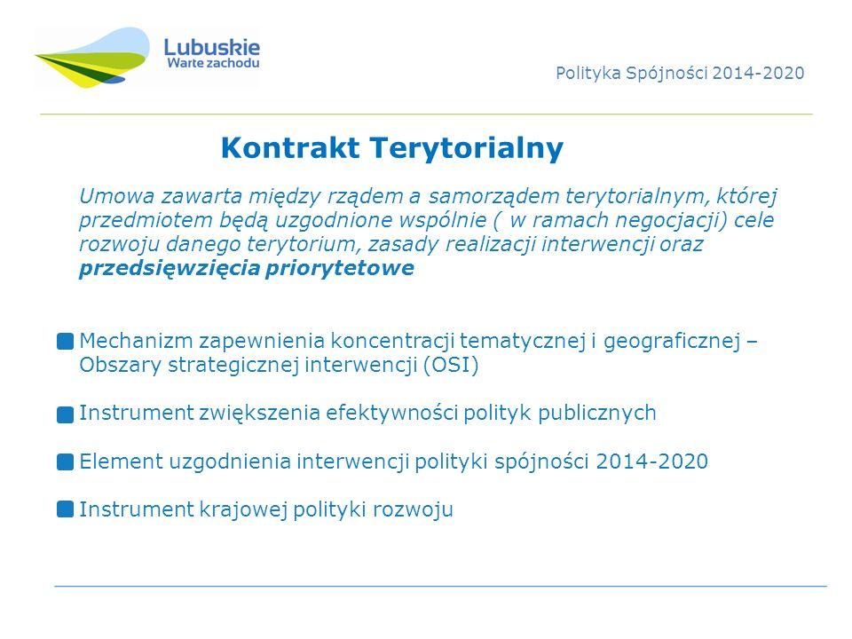 Kontrakt Terytorialny Umowa zawarta między rządem a samorządem terytorialnym, której przedmiotem będą uzgodnione wspólnie ( w ramach negocjacji) cele