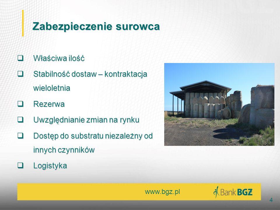www.bgz.pl 4 Zabezpieczenie surowca Właściwa ilość Właściwa ilość Stabilność dostaw – kontraktacja wieloletnia Stabilność dostaw – kontraktacja wielol