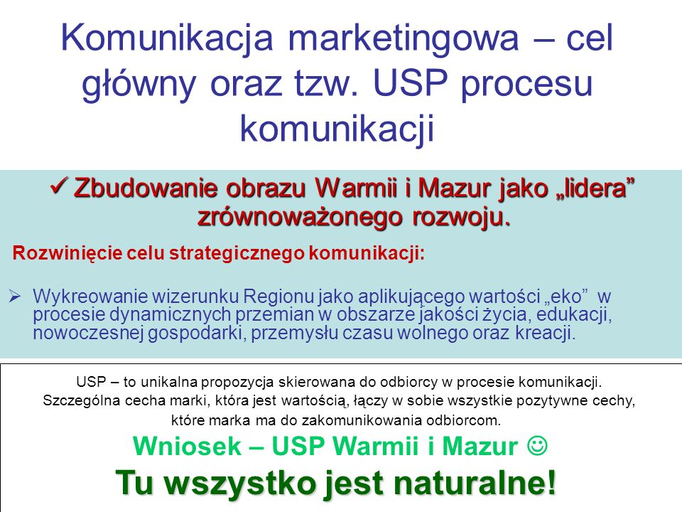USP – to unikalna propozycja skierowana do odbiorcy w procesie komunikacji. Szczególna cecha marki, która jest wartością, łączy w sobie wszystkie pozy