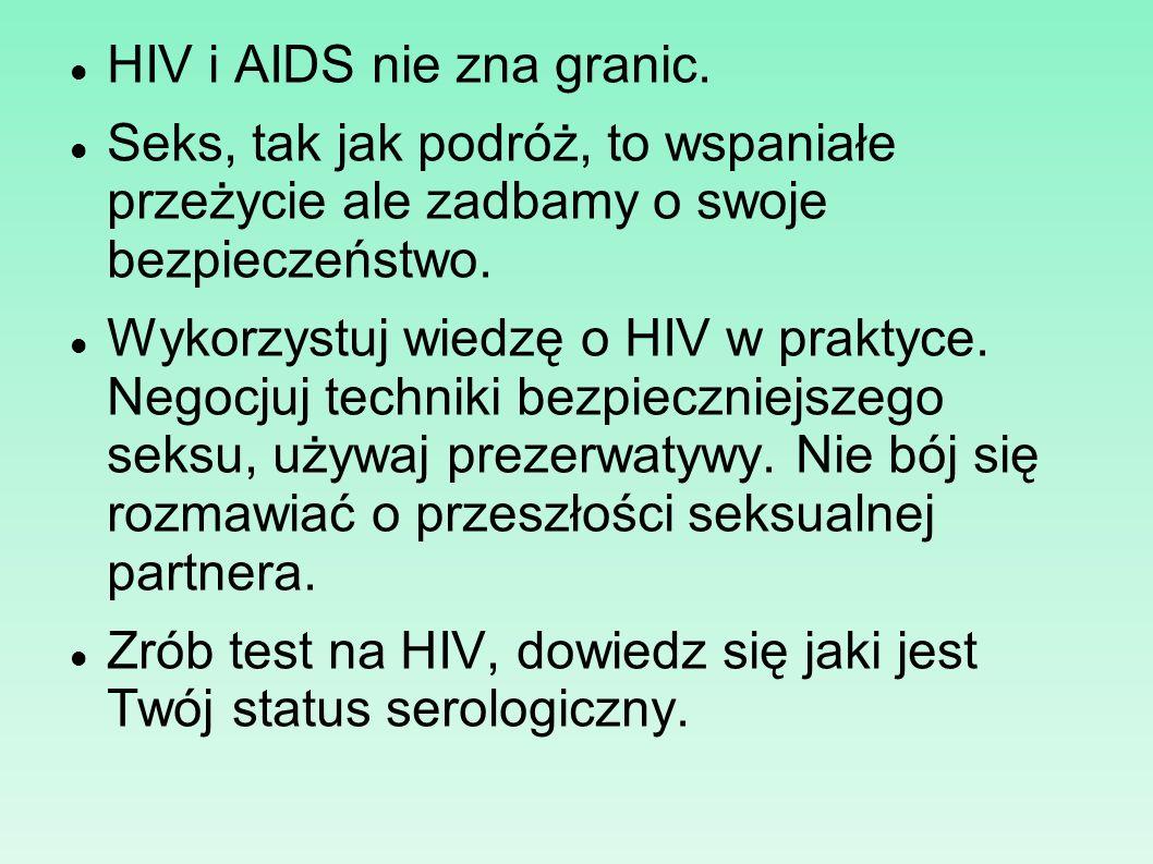 HIV i AIDS nie zna granic. Seks, tak jak podróż, to wspaniałe przeżycie ale zadbamy o swoje bezpieczeństwo. Wykorzystuj wiedzę o HIV w praktyce. Negoc