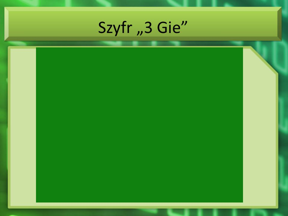 Szyfr 3 Gie
