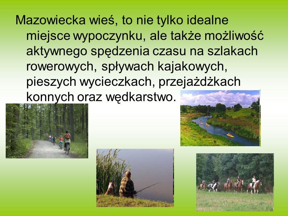 Mazowiecka wieś, to nie tylko idealne miejsce wypoczynku, ale także możliwość aktywnego spędzenia czasu na szlakach rowerowych, spływach kajakowych, p