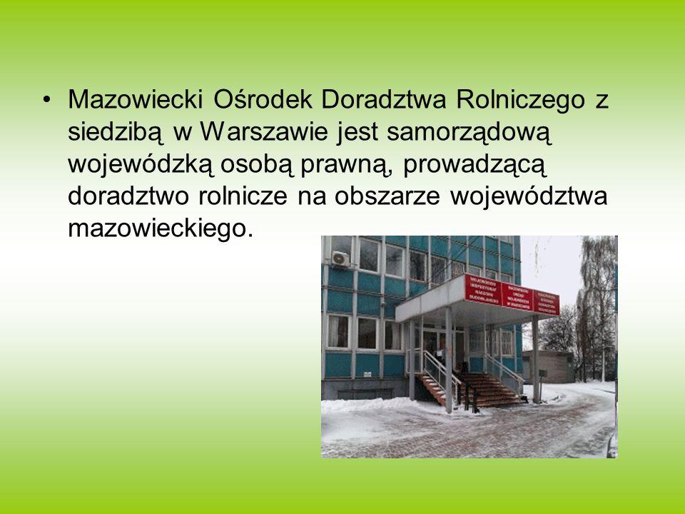 Mazowiecki Ośrodek Doradztwa Rolniczego z siedzibą w Warszawie jest samorządową wojewódzką osobą prawną, prowadzącą doradztwo rolnicze na obszarze woj