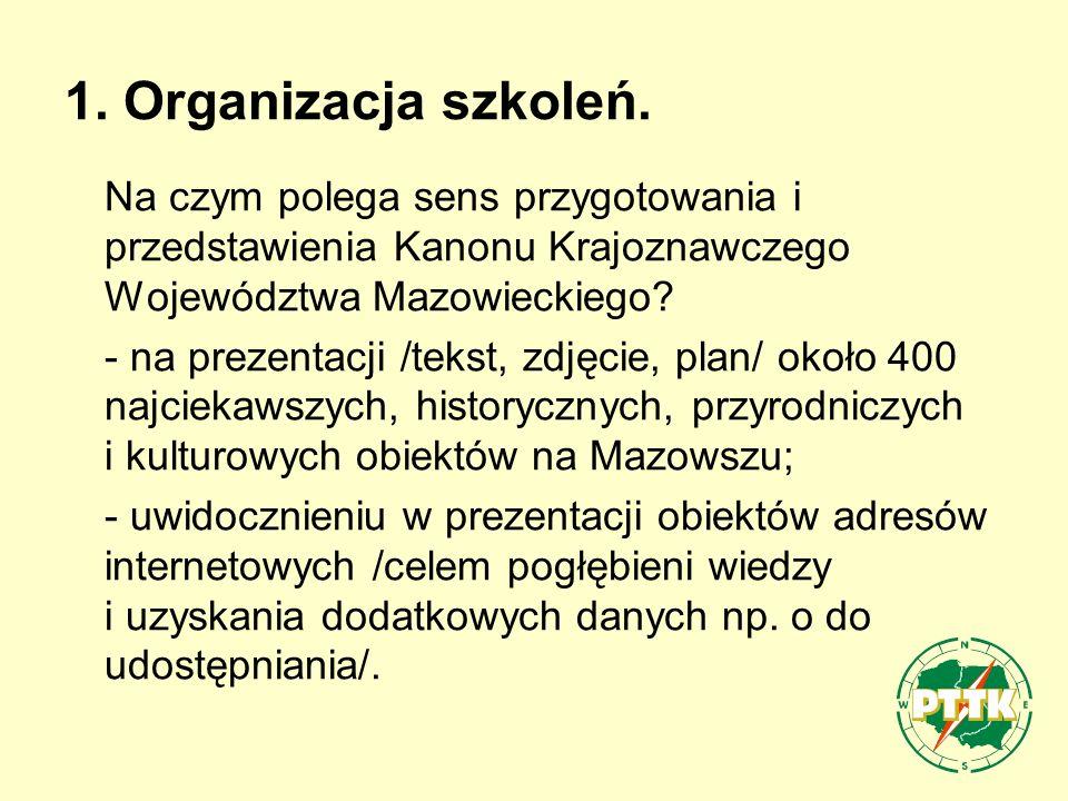 1.Organizacja szkoleń.