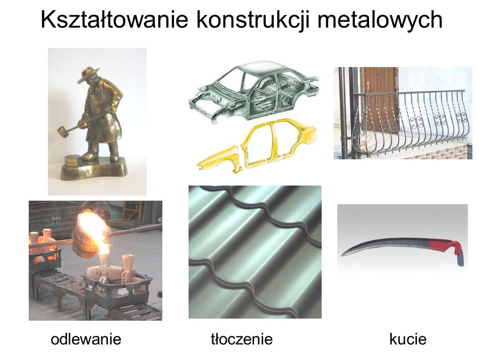 Kształtowanie konstrukcji metalowych odlewanietłoczeniekucie