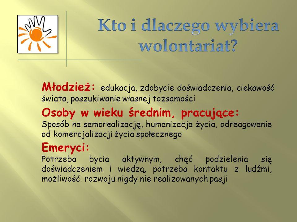 Wolontariusz - to osoba pracująca na zasadzie wolontariatu. Innym określeniem jest ochotnik. Według Ustawy o działalności pożytku publicznego i o wolo
