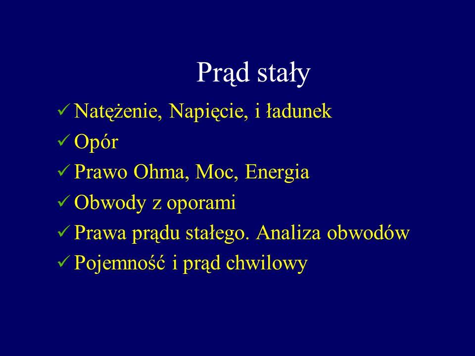 Literatura S.Bolkowski Teoria obwodów Wyd. Techn.