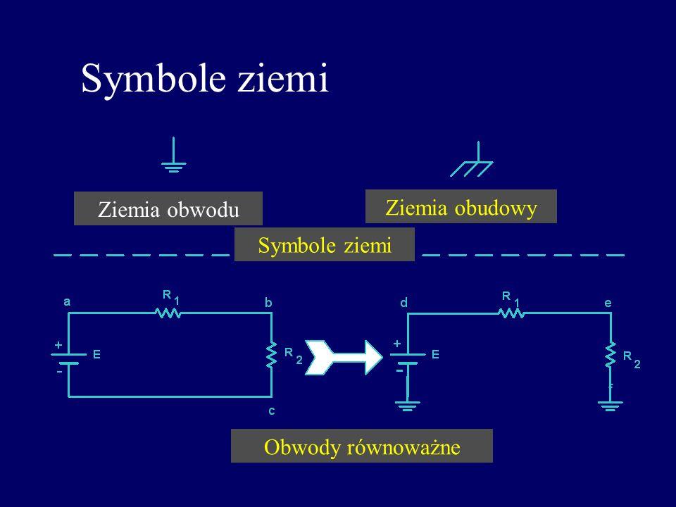 Symbole ziemi f Ziemia obwodu Ziemia obudowy Symbole ziemi Obwody równoważne