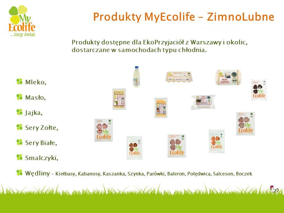 Produkty MyEcolife – ZimnoLubne Mleko, Masło, Jajka, Sery Żołte, Sery Białe, Smalczyki, Wędliny - Kiełbasy, Kabanosy, Kaszanka, Szynka, Parówki, Baler
