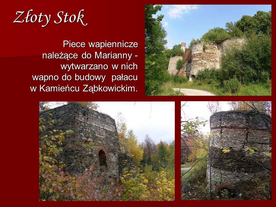 Piece wapiennicze należące do Marianny - wytwarzano w nich wapno do budowy pałacu w Kamieńcu Ząbkowickim. Złoty Stok