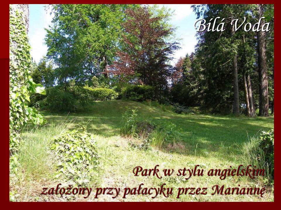 Park w stylu angielskim założony przy pałacyku przez Mariannę Bílá Voda