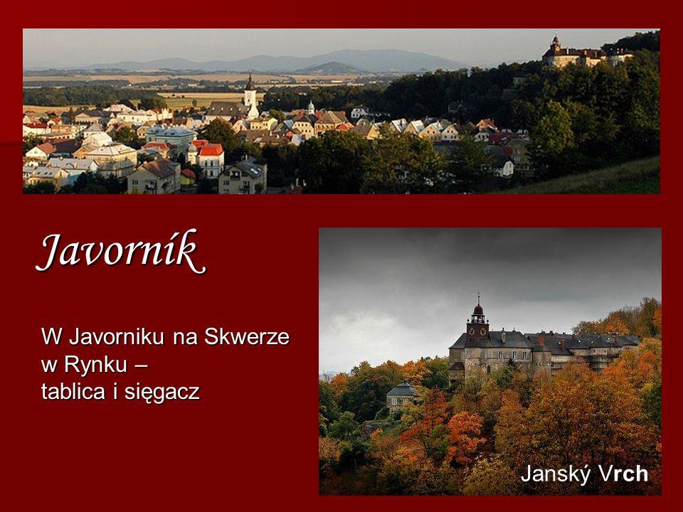 Javorník Janský Vrch W Javorniku na Skwerze w Rynku – tablica i sięgacz