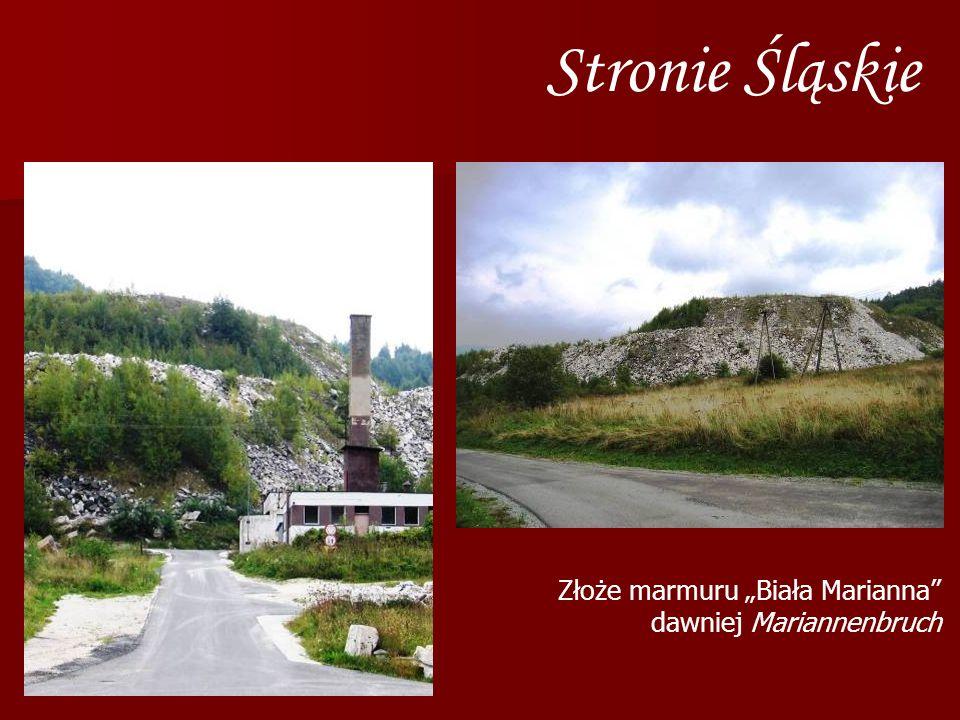 Stronie Śląskie Złoże marmuru Biała Marianna dawniej Mariannenbruch