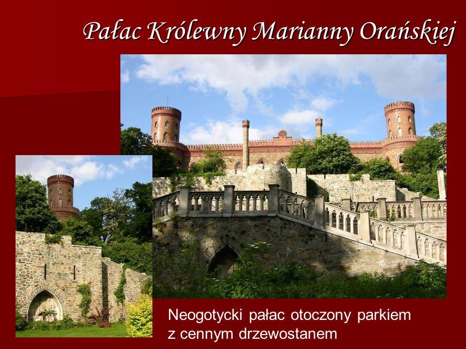 Pałac Królewny Marianny Orańskiej Neogotycki pałac otoczony parkiem z cennym drzewostanem