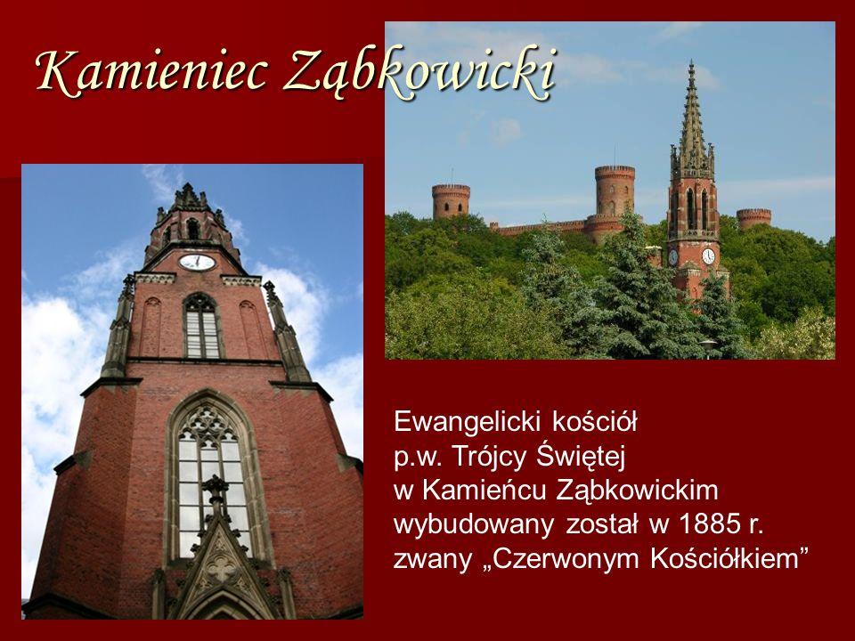 Kamieniec Ząbkowicki Ewangelicki kościół p.w. Trójcy Świętej w Kamieńcu Ząbkowickim wybudowany został w 1885 r. zwany Czerwonym Kościółkiem