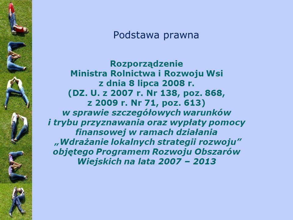 Rozporządzenie Ministra Rolnictwa i Rozwoju Wsi z dnia 8 lipca 2008 r. (DZ. U. z 2007 r. Nr 138, poz. 868, z 2009 r. Nr 71, poz. 613) w sprawie szczeg
