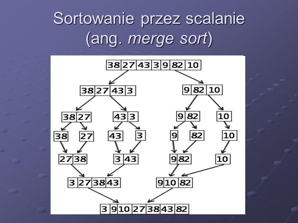 Sortowanie przez scalanie (ang. merge sort)