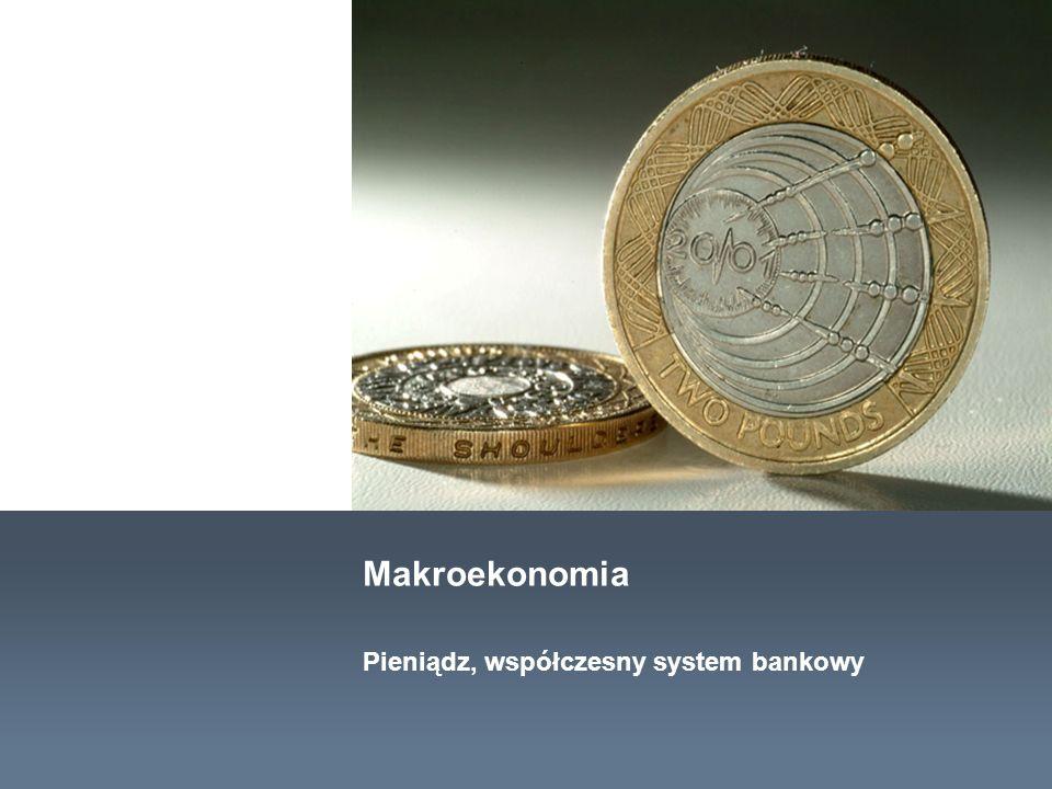 Makroekonomia Pieniądz, współczesny system bankowy