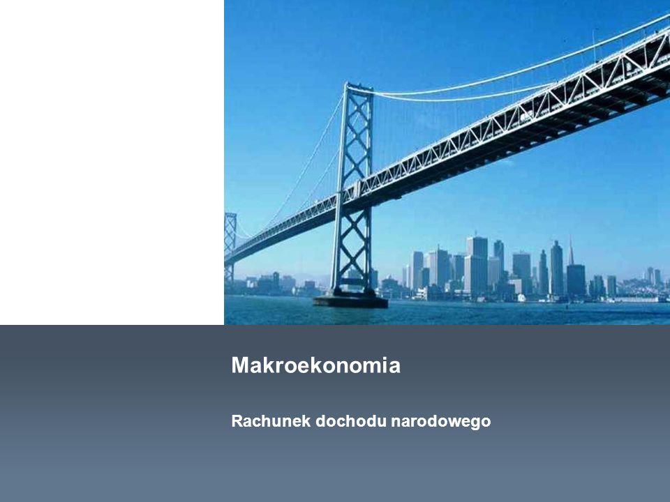 Makroekonomia Rachunek dochodu narodowego
