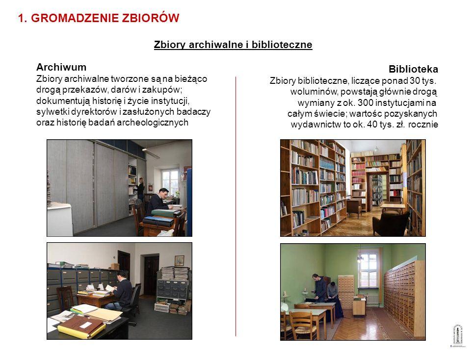 Archiwum Zbiory archiwalne tworzone są na bieżąco drogą przekazów, darów i zakupów; dokumentują historię i życie instytucji, sylwetki dyrektorów i zas
