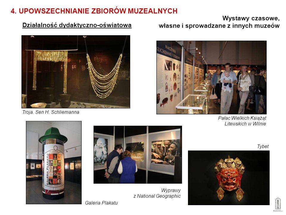 Działalność dydaktyczno-oświatowa 4. UPOWSZECHNIANIE ZBIORÓW MUZEALNYCH Wystawy czasowe, własne i sprowadzane z innych muzeów Pałac Wielkich Książąt L
