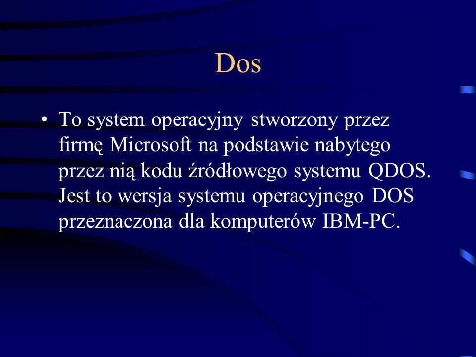 Dos To system operacyjny stworzony przez firmę Microsoft na podstawie nabytego przez nią kodu źródłowego systemu QDOS. Jest to wersja systemu operacyj