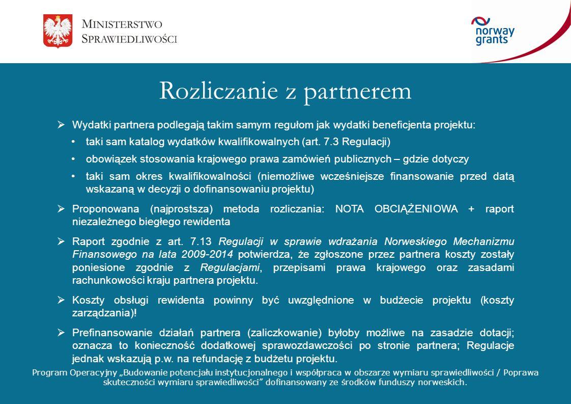 Program Operacyjny Budowanie potencjału instytucjonalnego i współpraca w obszarze wymiaru sprawiedliwości / Poprawa skuteczności wymiaru sprawiedliwości dofinansowany ze środków funduszy norweskich.