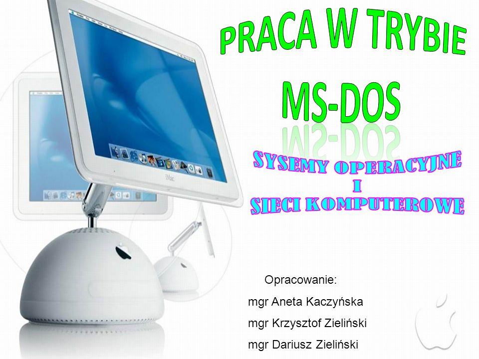 1) System Operacyjny- opis pojęcia 2) Hierarchia oprogramowania 3) Historia i okno aplikacji w DOS 4) Architektura, budowa i zadania w DOS 5) Polecenia wewnętrzne i zewnętrzne systemu DOS: 6) Uruchamianie systemu operacyjnego i inicjacja systemu DOS: 7) Wykonanie dyskietki systemowej: 8) COMMAND.COM -opis 8) COMMAND.COM -opis :