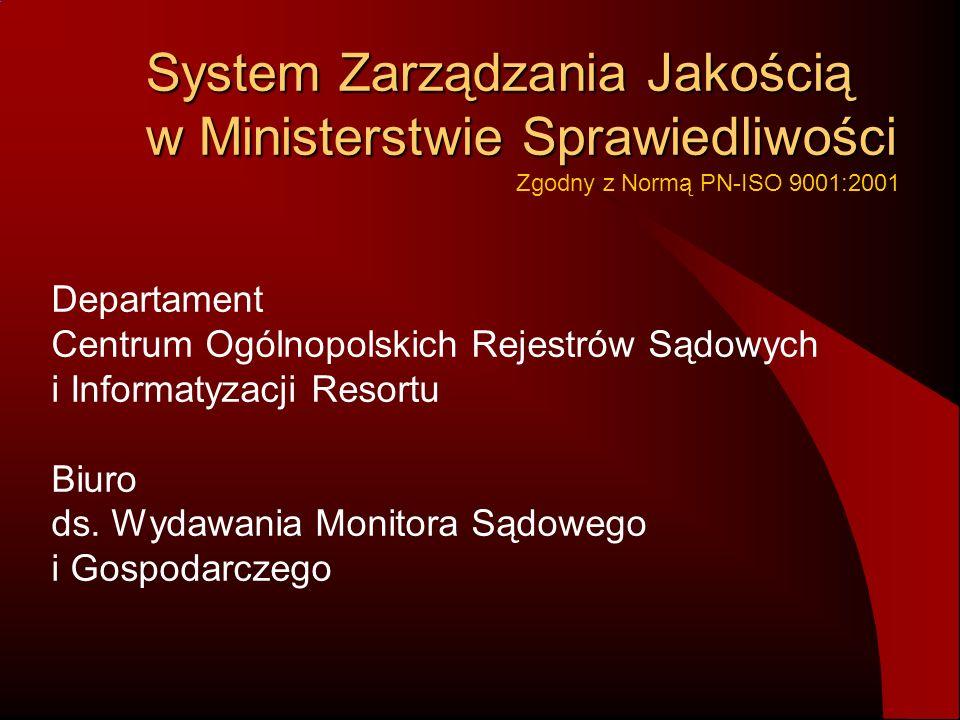 II Etap wdrożenia Dyrektor Generalny MINISTER SPRAWIEDLIWOŚCI PROKURATOR GENERALNY Biuro Ministra Biuro Postępowania Sądowego Biuro ds.