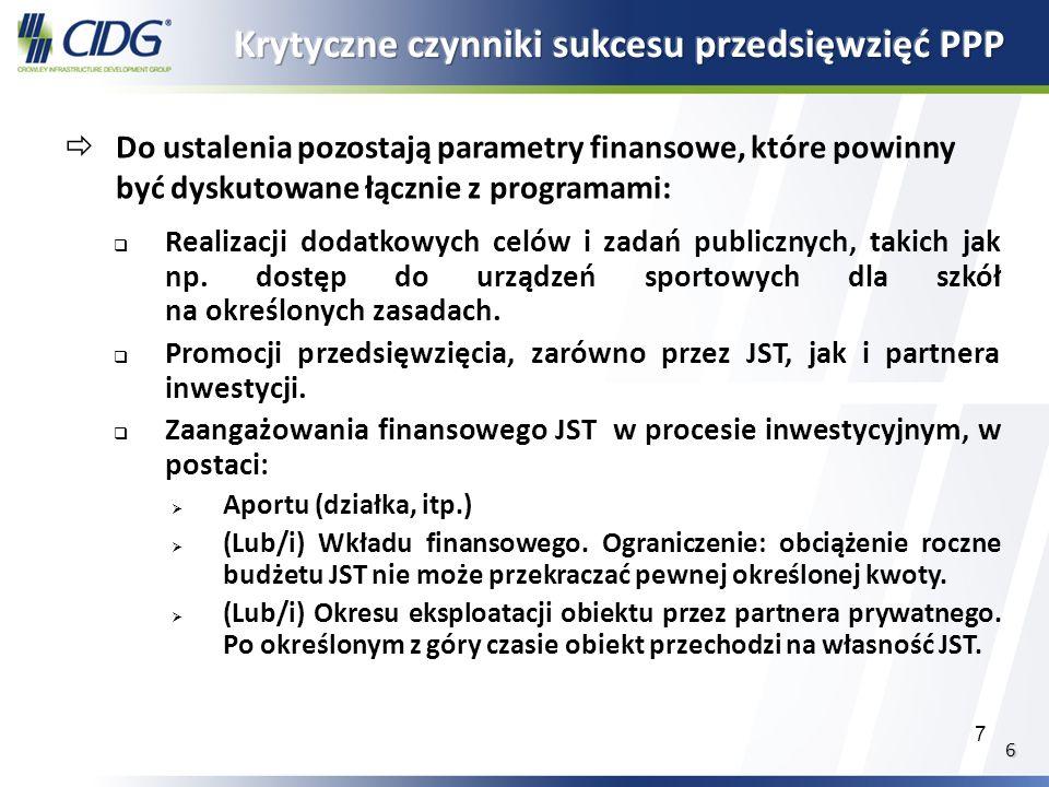 8 Istnieje cała paleta rozwiązań projektowo- organizacyjno -finansowych, umożliwiających udany mariaż 100% publicznego finansowania publicznego Tradycyjny system zamówień I wykonania projektu Tradycyjne zamówienie I wykonanie, wzbogacone o model design - build (zaprojektuj - wybuduj) w ramach jednego elementu prjektu Zamówienie zaprojektuj - wybuduj całości, z całkowitym finansowaniem i utrzymaniem publicznym Finansowanie publiczno - prywatne Zamówienie zaprojektuj - buduj, finansowane publicznie, ale partner współfinansuje część procesu projektowania/ budowy Zamówienie zaprojektuj - buduj - utrzymuj - przy gwarantowanych kosztach obsługi i zabezpieczonych przez p.