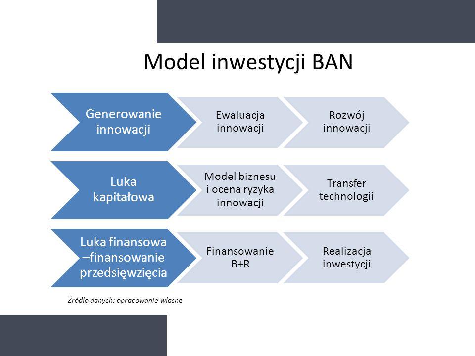 Generowanie innowacji Ewaluacja innowacji Rozwój innowacji Luka kapitałowa Model biznesu i ocena ryzyka innowacji Transfer technologii Luka finansowa