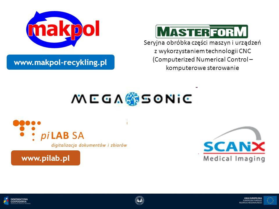 www.makpol-recykling.pl Seryjna obróbka części maszyn i urządzeń z wykorzystaniem technologii CNC (Computerized Numerical Control – komputerowe sterow