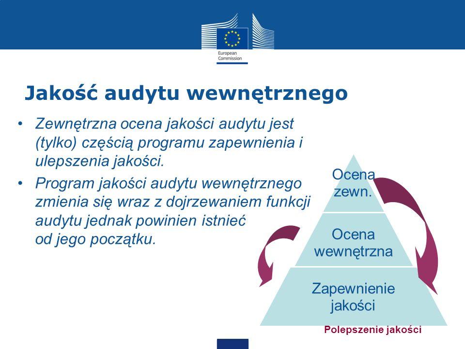 Jakość audytu wewnętrznego Zewnętrzna ocena jakości audytu jest (tylko) częścią programu zapewnienia i ulepszenia jakości. Program jakości audytu wewn