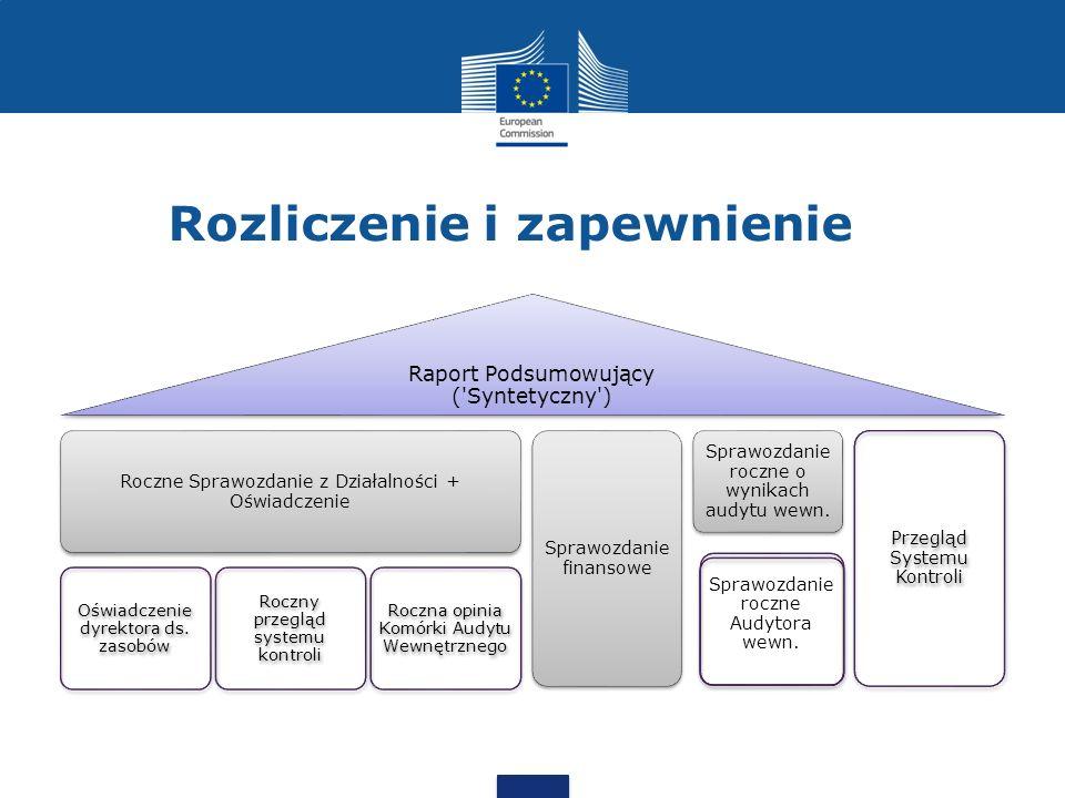 Rozliczenie i zapewnienie Raport Podsumowujący ('Syntetyczny') Roczne Sprawozdanie z Działalności + Oświadczenie Oświadczenie dyrektora ds. zasobów Ro