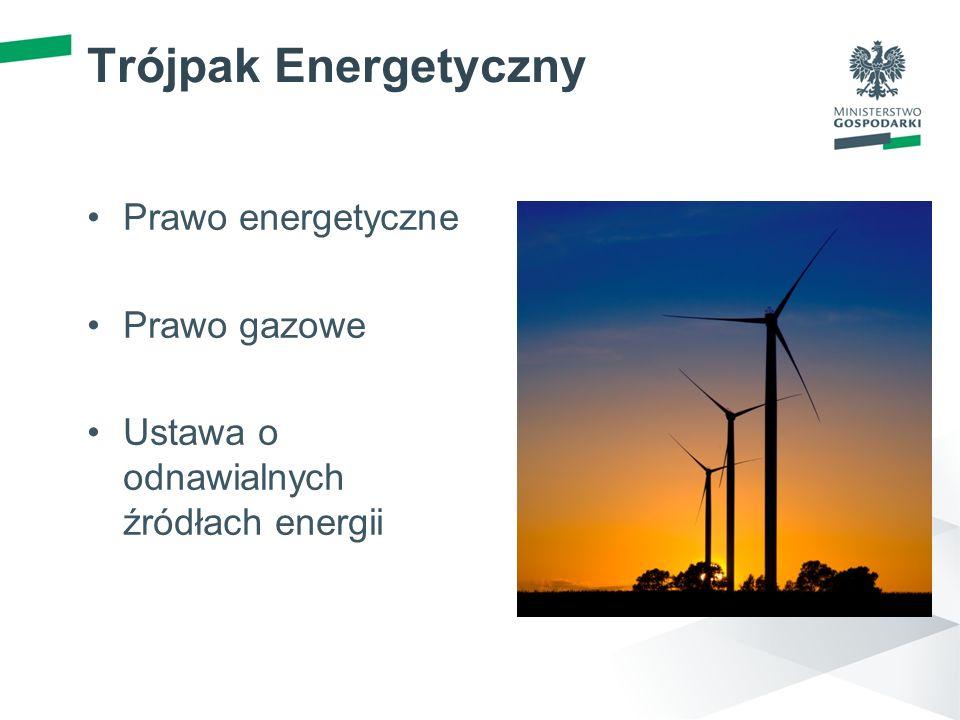 Trójpak Energetyczny Prawo energetyczne Prawo gazowe Ustawa o odnawialnych źródłach energii