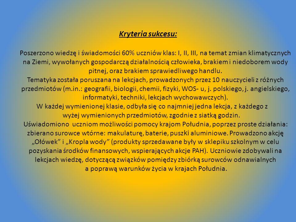 Delegacja naszego gimnazjum: Mariusz Rogala kl.- IIID Barbara Wilczyńska - kl.